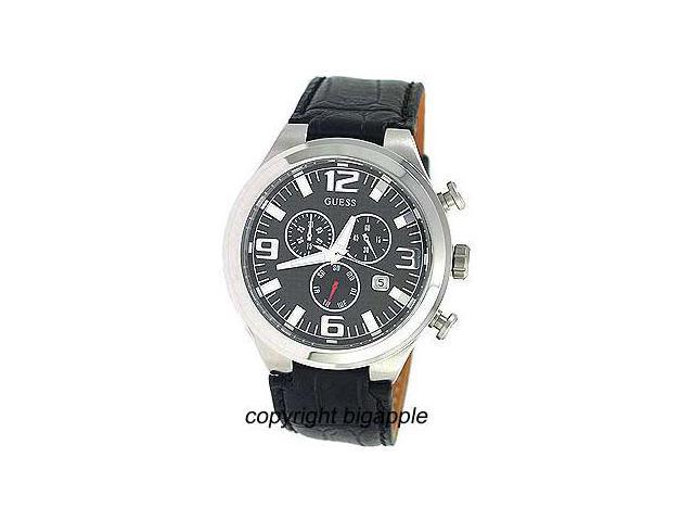 Guess Chronograph Date Leather Band Mens Watch W15034G1