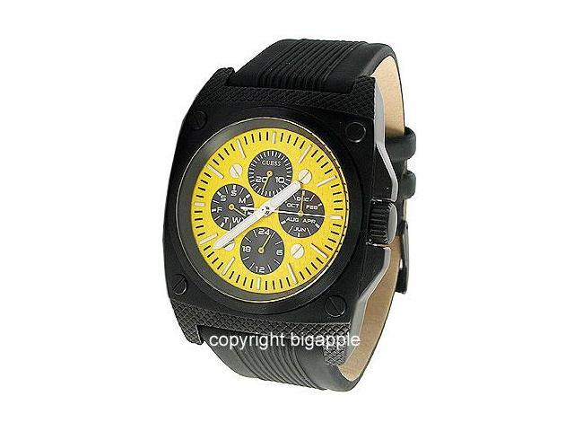 Guess Multi-Function Yellow Face Resin Mens Watch W13513G2