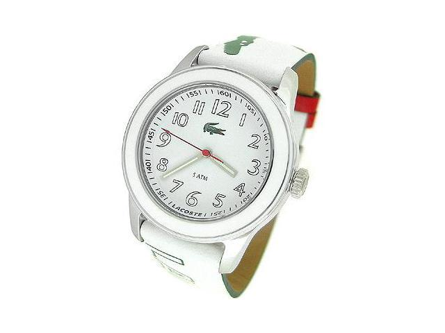 Lacoste Sport Collection Advantage Leather Strap White Dial Women's watch #2000518