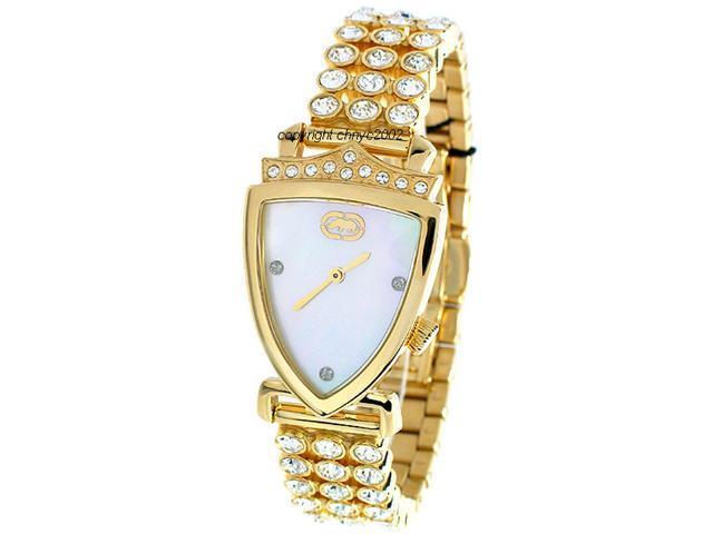 Marc Ecko Simulated Diamond Gold Tone Ladies Watch E17515L1