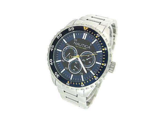 Nautica Multifunction Steel Bracelet Blue Dial Men's watch #N15017G