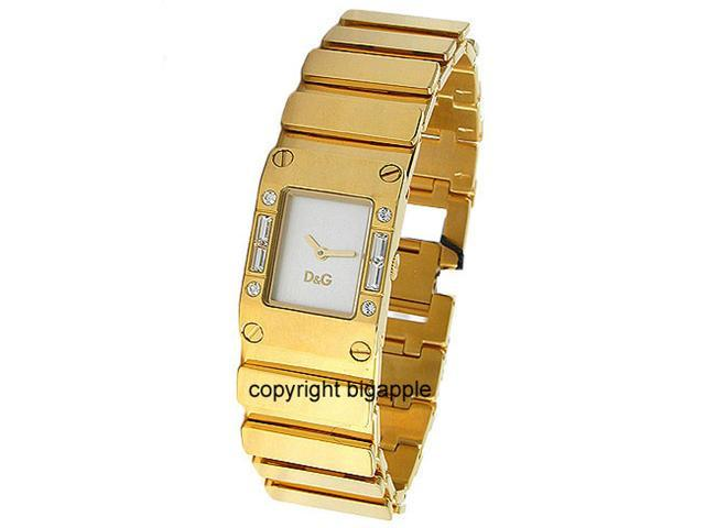 DOLCE & GABBANA GOLD TONE CRYSTAL LADIES WATCH