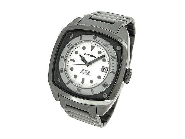 DIESEL DATE GUN METAL BRACELET 50M MENS WATCH