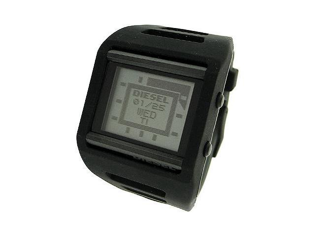 DIESEL DIGITAL BLACK SILICONE 50M MENS WATCH