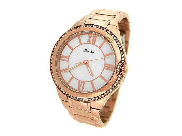 GUESS MOTHER-OF-PEARL ROSE GOLD TONE LADIES WATCH