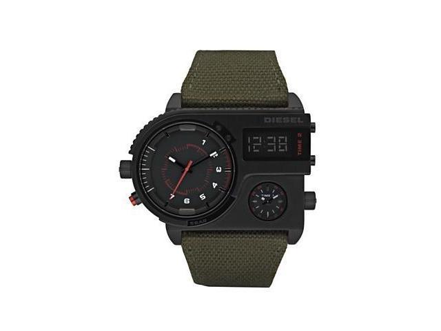 Diesel 3 Time Zones  Analog-Digital Mens Watch DZ7206