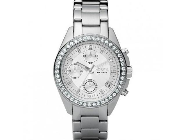 Fossil Decker Chronograph Silver Dial Stainless Steel Ladies Watch ES2681