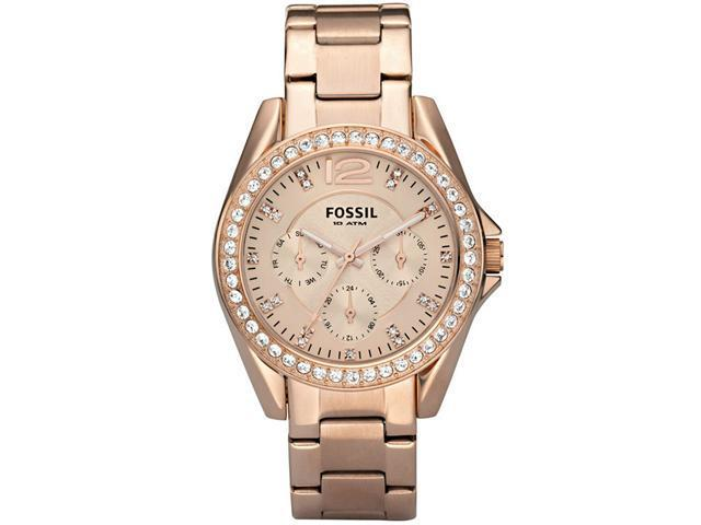 Fossil ES2811 Riley Multifunction Rose Gold-plated Ladies Watch