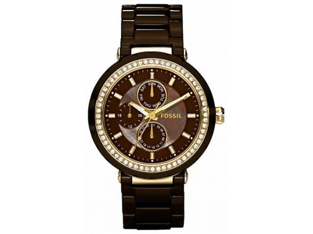 Fossil Allie Ceramic Chocolate Brown Dial Women's watch #CE1046