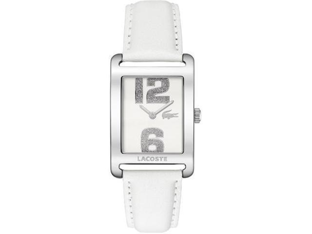Lacoste Andorra White Dial White Leather Ladies Watch 2000651