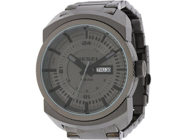 Diesel Timeframes Gunmetal Dial Grey PVD Mens Watch DZ1472