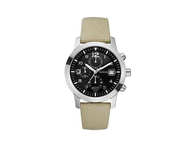 GUESS Chronograph Beige Canvas Mens Watch U11650G1