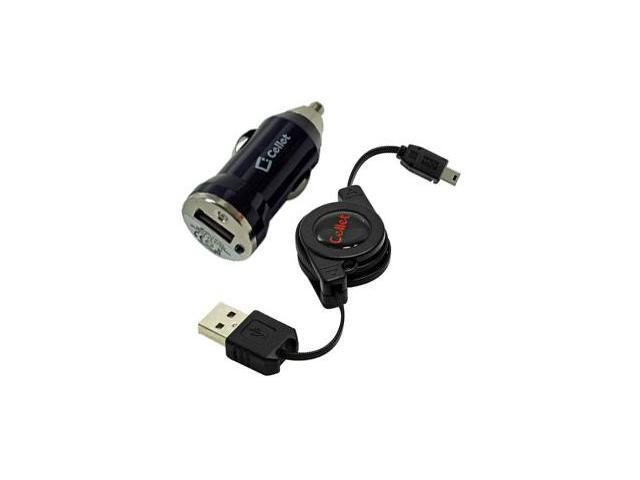 ZTE C70 Retractable Sync & Charge USB Kit (Retractable USB Cable & Bullet Car Adapter)