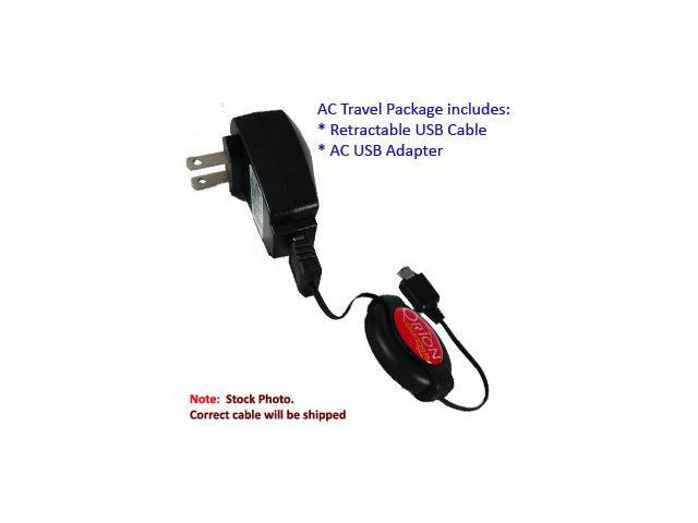 HTC Touch HD Retractable USB AC Travel Kit