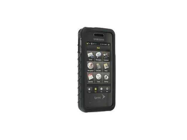 Samsung Instinct M800 Silicone Skin Case (Black)