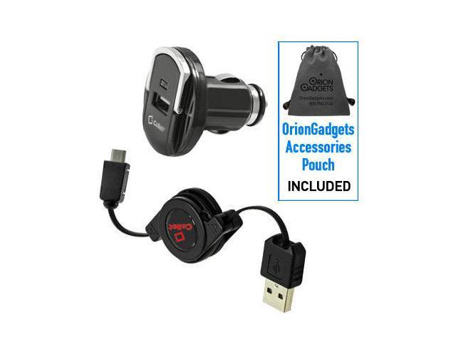 HTC Droid Eris Retractable Sync & Charge USB Kit (Retractable USB Cable & Compact Car Adapter)
