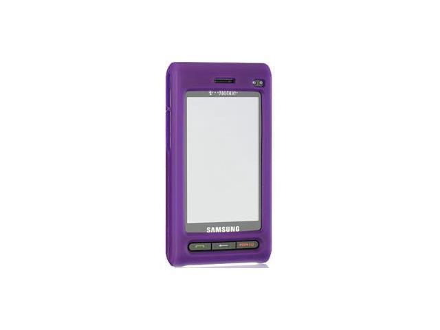Samsung Memoir T929 Silicone Skin Case (Purple)