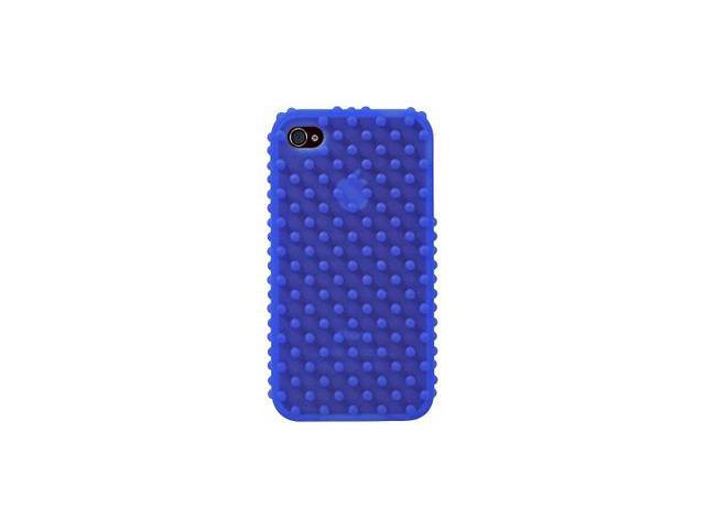 Apple iPhone 4 Silicone Nodules Design Skin Case (Blue)