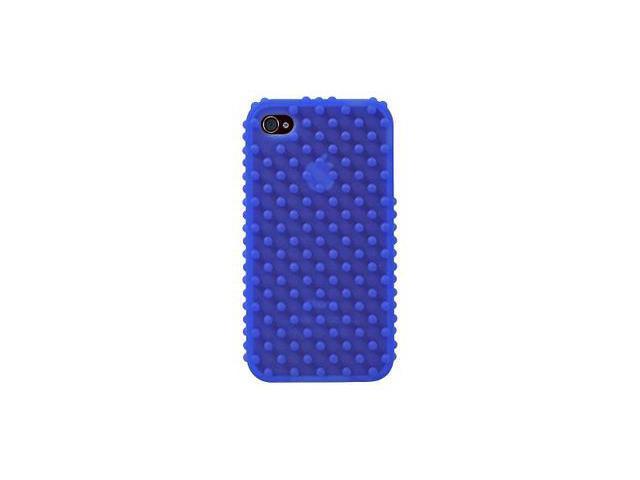Apple iPhone 4 Silicone Nodules Design Skin Case (Blue)