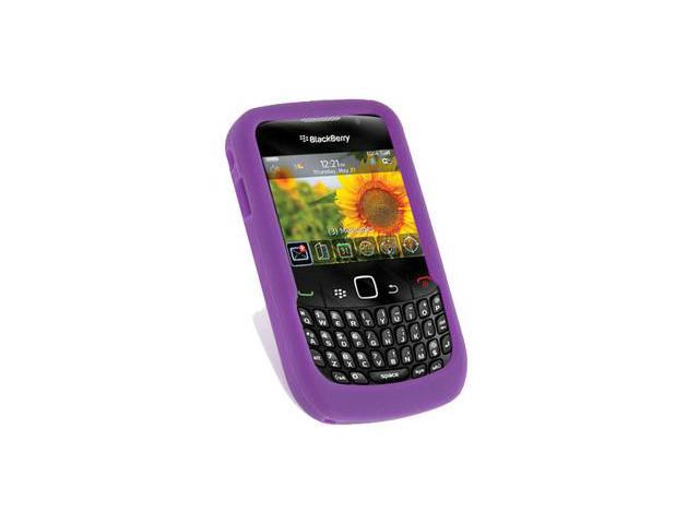 BlackBerry Curve 3G 9300 Silicone Skin Case (Purple)