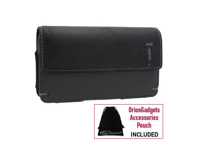 T-Mobile myTouch 3G Slide Napa Leather Horizontal Pouch Type Case (Black)