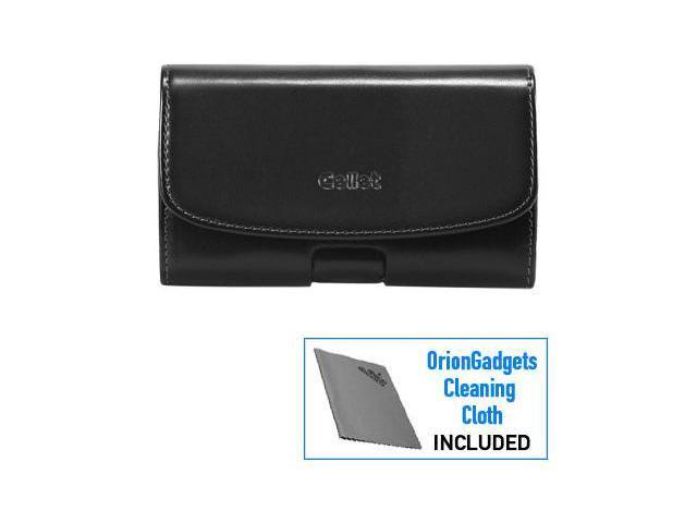 Samsung Focus Horizontal Omega Pouch Case w/ Removable Spring Belt Clip (Black)