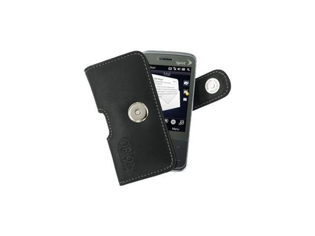 Sprint HTC Touch Pro Leather Horizontal Pouch Type Case (Black)