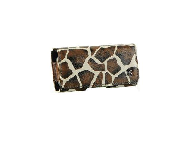 Samsung Behold T919 Safari Leather Horizontal Pouch Type Case - Brown Giraffe
