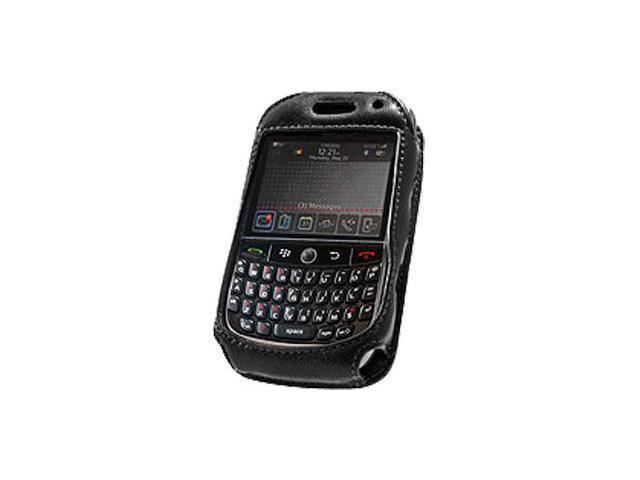 BlackBerry Curve 8900 Elite Leather Case with Spring & Swivel Clip (Black)