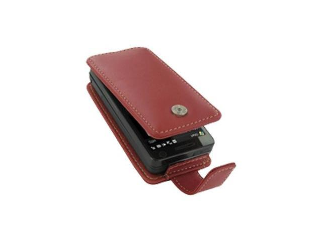 AT&T Fuze Leather Flip Type Case (Red)