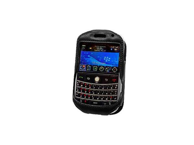 Blackberry Bold 9000 Elite Leather Case with Spring & Swivel Clip (Black)