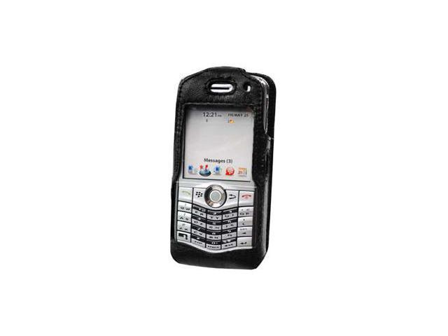 BlackBerry 8130 Pearl Elite Leather Case with Spring & Swivel Clip (Black)