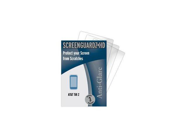 AT&T HTC Tilt 2 ScreenGuardz HD (Hard) Anti-Glare Screen Protectors (Pack of 2)