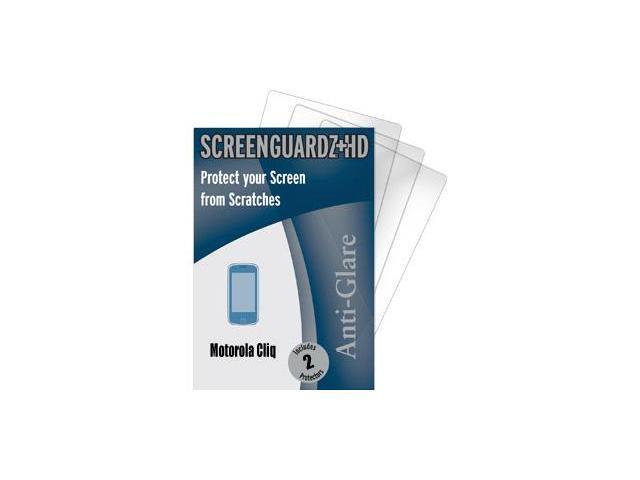 Motorola Cliq ScreenGuardz HD (Hard) Anti-Glare Screen Protectors (Pack of 2)