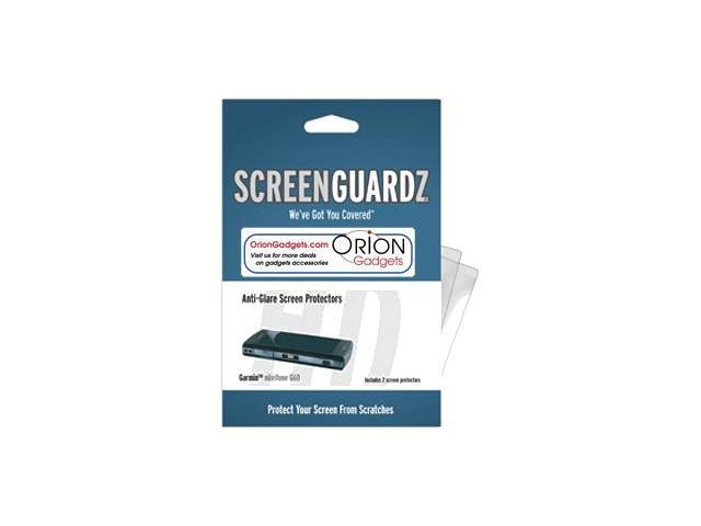 Garmin Nuvifone G60 ScreenGuardz HD (Hard) Anti-Glare Screen Protectors (Pack of 2)