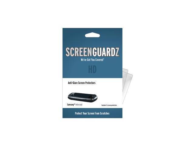 Samsung Intercept ScreenGuardz HD (Hard) Anti-Glare Screen Protectors (Pack of 2)