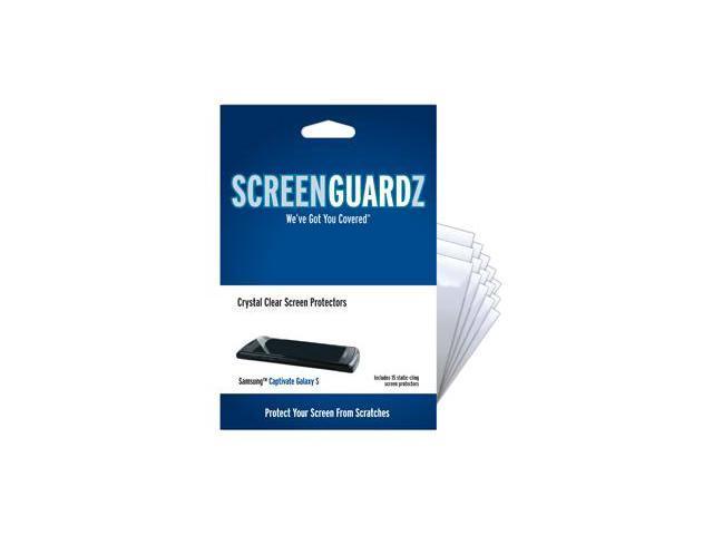 Samsung Captivate ScreenGuardz Ultra-Slim Screen Protectors (Pack of 15)