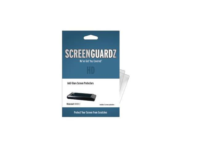 Motorola Droid 2 ScreenGuardz HD (Hard) Anti-Glare Screen Protectors (Pack of 2)