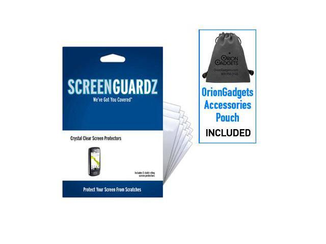 LG Optimus T ScreenGuardz Ultra-Slim Screen Protectors (Pack of 5)