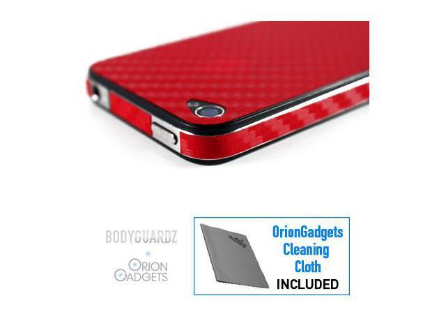 Apple iPhone 4S BodyGuardz Armor Carbon Fiber (Red)
