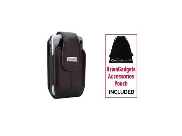 Blackberry Curve 8330 Leather Vertical Pouch Case w/ Swivel Belt Clip (OEM) (Brown)