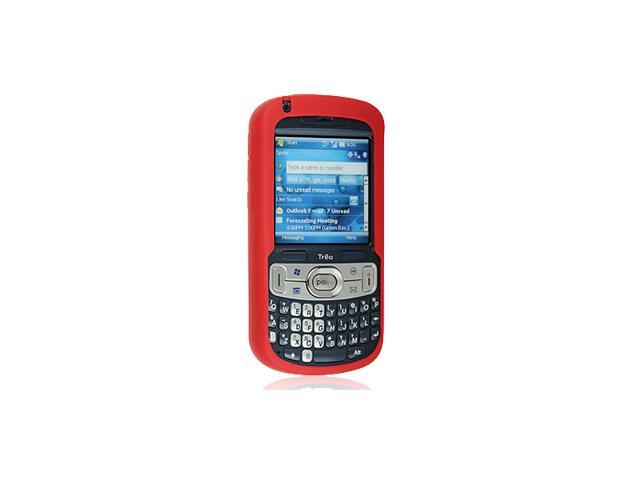 Palm Treo 800w Silicone Skin Case (Open D-Pad) (Red)