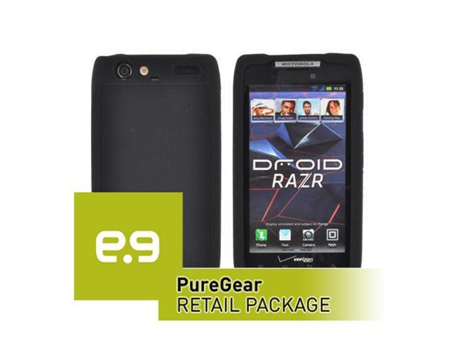 Motorola DROID RAZR XT912 PureGear Silicone Soft Silicone Case in PureGear Retail Package (Black)