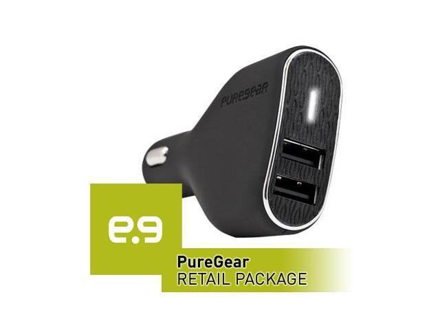 Universal PureGear Dual USB Port Vehicle Power Adapter