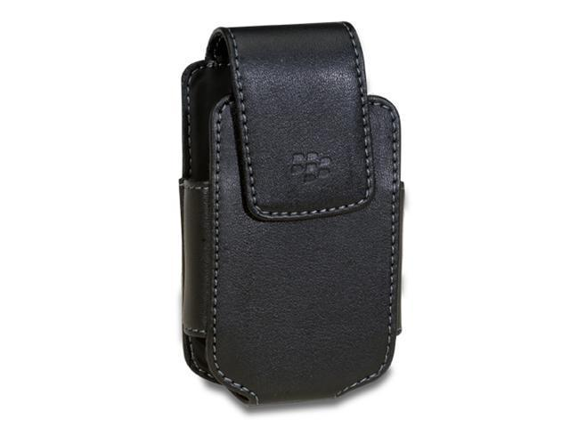 BlackBerry Pearl Flip 8220 Vertical Leather Pouch With Belt Clip OEM HDW-19594-001