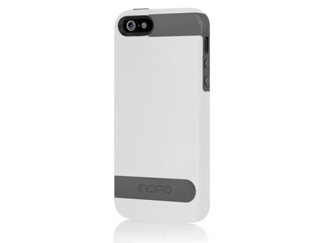 Apple iPhone 5 INCIPIO OVRMLD Hybrid Flexible Hard-Shell Case IPH-841 (Gray) (White)