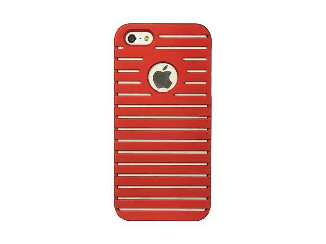 Apple iPhone 5 Rubberized Proguard Panelled Design Case (Red)
