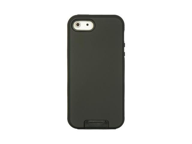 Apple iPhone 5 Double Layer Hybrid case w/ Pull-out Kickstand (Black)