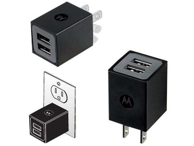 Motorola Atrix 4G Dual Port USB Charger Original OEM 89535N SPN5689A SKN5004A