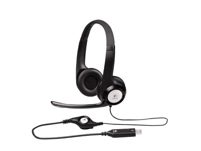 Logitech ClearChat Comfort USB Headset H390 (981-000014) (Black)
